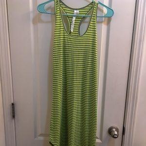 Dresses & Skirts - Asymmetrical green tank dress